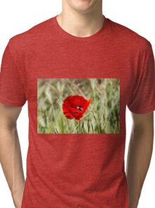poppies in the field Tri-blend T-Shirt