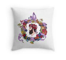 Masculine flora Throw Pillow