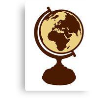 Globe world map Canvas Print