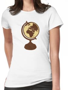 Globe world map Womens Fitted T-Shirt