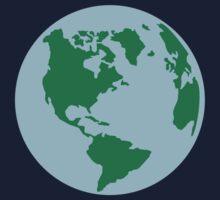 Globe world map america Kids Tee