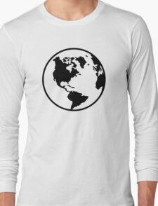 World map globe Long Sleeve T-Shirt