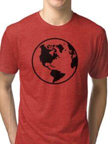 World map globe Tri-blend T-Shirt