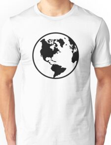 World map globe Unisex T-Shirt