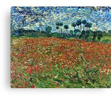 Vincent Van Gogh - Poppy Field 1890  Canvas Print