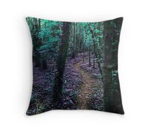 Woodland Path in Purple Throw Pillow