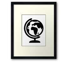 Globe europe africa Framed Print