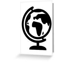 Globe europe africa Greeting Card