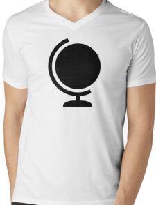 Globe logo Mens V-Neck T-Shirt