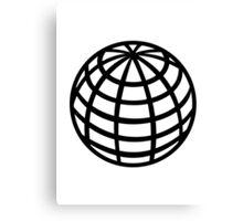 Globe symbol Canvas Print