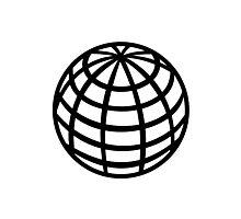 Globe symbol Photographic Print