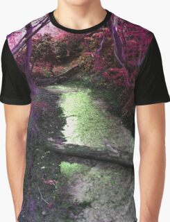 Woodland Stream in Magenta Graphic T-Shirt