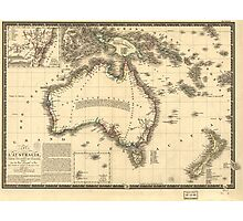 Map of Australia (New Holland) - 1826 Photographic Print