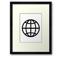 Globe icon Framed Print