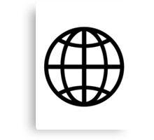 Globe icon Canvas Print