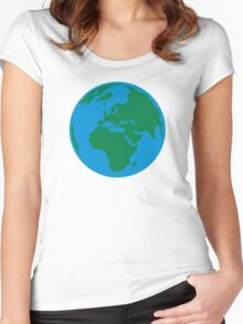 Globe Earth World Women's Fitted Scoop T-Shirt