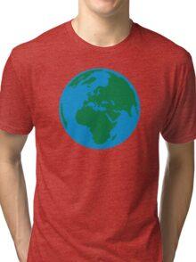 Globe Earth World Tri-blend T-Shirt