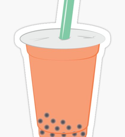 Thai Milk Bubble Tea Sticker