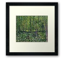 Vincent Van Gogh - Trees And Undergrowth, July 1887 - 1887  Framed Print