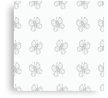 Monochrome butterfly Canvas Print