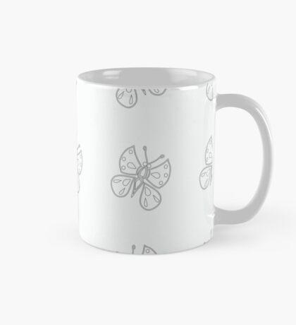 Monochrome butterfly Mug