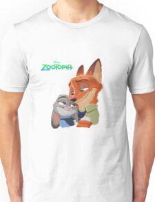 fox and bunny love story zootopia Unisex T-Shirt
