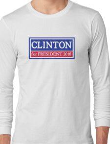 Hillary Clinton for president 2016 Long Sleeve T-Shirt