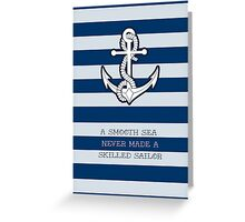 Anchor 2 skilled Sailor Greeting Card
