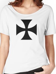 Black iron cross Women's Relaxed Fit T-Shirt