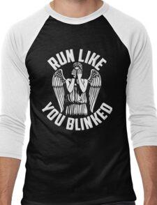 run like you blinked  Men's Baseball ¾ T-Shirt