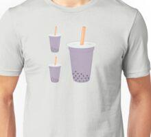 Taro Bubble Tea Pattern Unisex T-Shirt