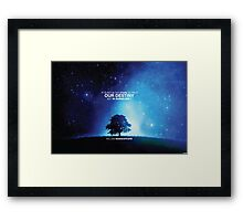 Shakespeare - IT IS NOT IN THE STARS TO HOLD OUR DESTINY BUT IN OURSELVES Framed Print