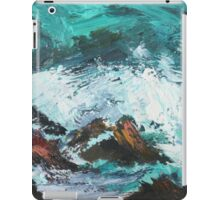 Pacific Rocks California Seascape Acrylics On Paper Fine Art Contemporary Painting iPad Case/Skin