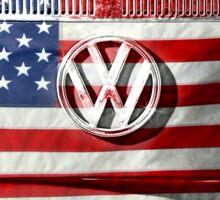 USA flag VW  Sticker