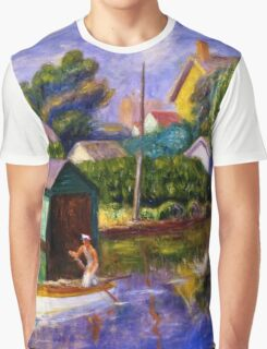 William Glackens - The Green Boathouse 1922  Graphic T-Shirt