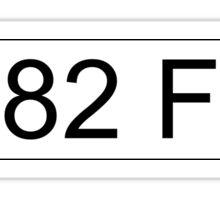 Jeremy Clarkson Falklands number plate Sticker