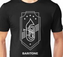 Baritone - White & Gray Unisex T-Shirt