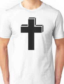 Black cross Unisex T-Shirt