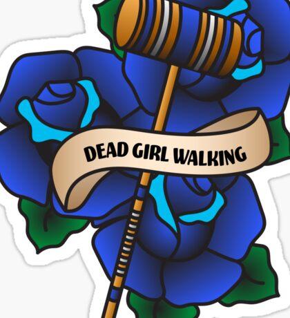 Dead Girl Walking Sticker