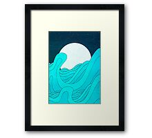 The Moon and the Sea Framed Print