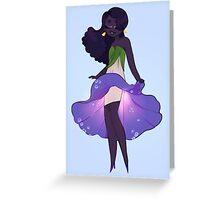 Morning Glory Girl Greeting Card