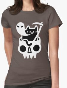 cat grim reaper Womens Fitted T-Shirt