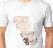 one_punch_man_4_faces Unisex T-Shirt