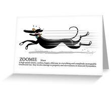 Greyhound Glossary: Zoomie Greeting Card