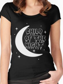 Child of the night Women's Fitted Scoop T-Shirt