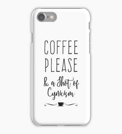 Coffee Please iPhone Case/Skin