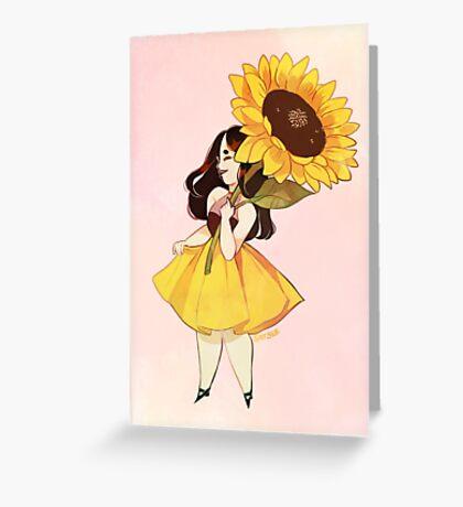 Sunflower Girl Greeting Card