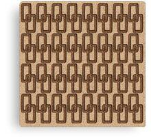 Cork Links Masculine Pattern Canvas Print