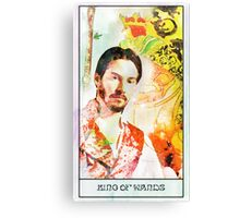 King of Wands Keanu Canvas Print