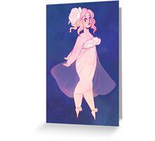 Peony Girl Greeting Card